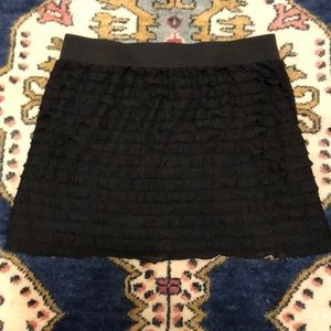 Lauren Conrad Black Ruffle Skirt Size XL